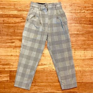 H&M Pants - Checkered high waisted pants